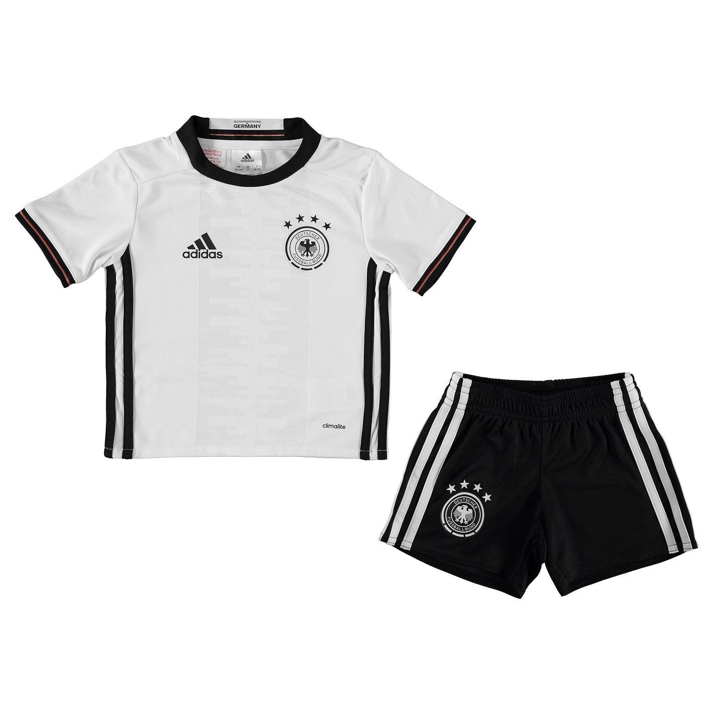 adidas deutschland kit dfb mini trikot hose heimtrikot. Black Bedroom Furniture Sets. Home Design Ideas